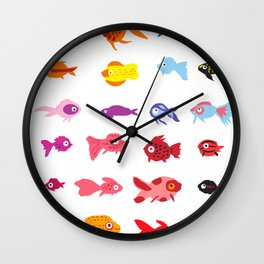 Fish collection Wall Clock