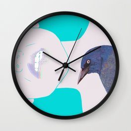 Neon Pecking Pain Wall Clock