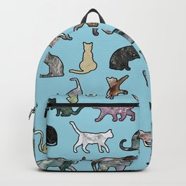 Cats shaped Marble - Sky Blue Backpack