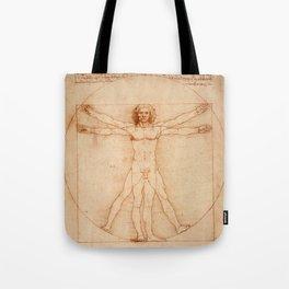 Vitruvian Man (c. 1490) Tote Bag