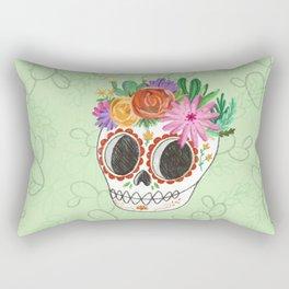 Fridita with flowers Rectangular Pillow