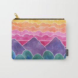 The Happy Place Watercolor Landscape Painting Carry-All Pouch