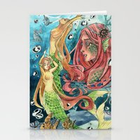 mermaids Stationery Cards featuring Mermaids by rumpelstiltskinned