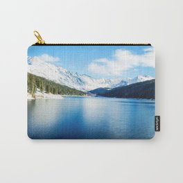 Clinton Gulch // Day Light Mountain Lake Forest Snow Peak Landscape Photography Hiking Decor Carry-All Pouch