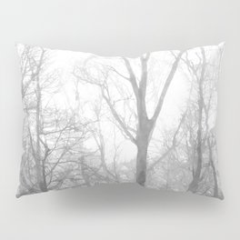 Black and White Forest Illustration Pillow Sham