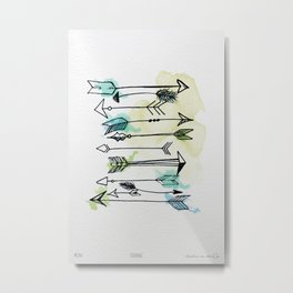 """Courage"" A set of watercolor arrows Metal Print"