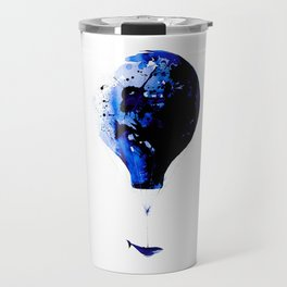 Blue journey #whale #balloon #travel #blue Travel Mug