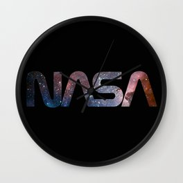 NASA font Wall Clock