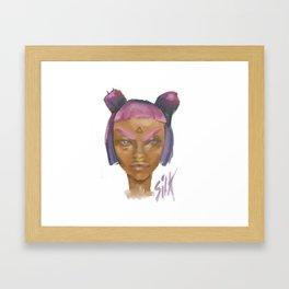 Sick Girl Framed Art Print