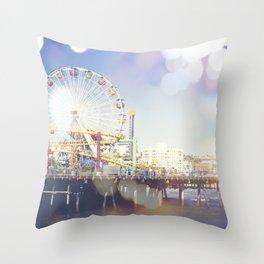 Santa Monica bokeh Throw Pillow