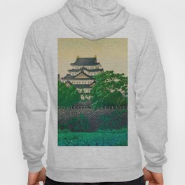 Kawase Hasui Vintage Japanese Woodblock Print Nagoya Castle Hoody