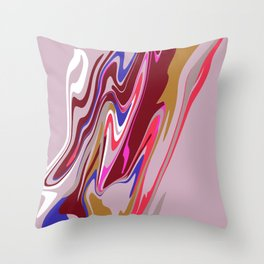 Pink Blob Throw Pillow