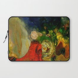 """Odilon Redon """"The Red Sphinx"""" Laptop Sleeve"""