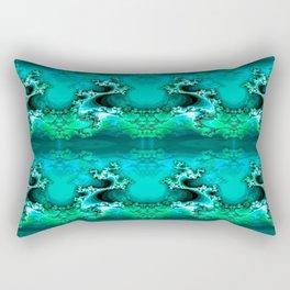 Here be Dragons (emerald green) Rectangular Pillow