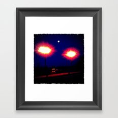 Lights on a Bridge Framed Art Print