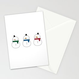 We Three Snowmen Stationery Cards