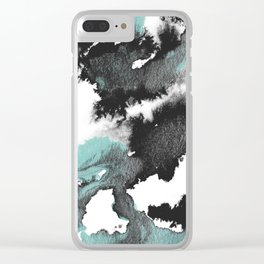 Dark Tide Clear iPhone Case