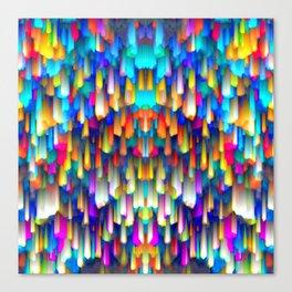 Colorful digital art splashing G390 Canvas Print