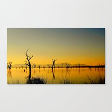 Scupltures in the Lake Canvas Print