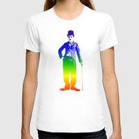 chaplin T-shirts featuring Chaplin by PsychoBudgie