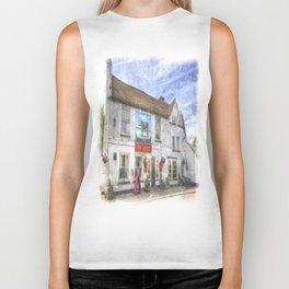 The Bull Pub Theydon Bois Watercolour Biker Tank