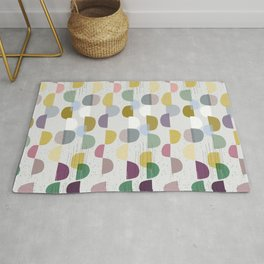 scandinavian pattern abstract No. 8 soft colours Rug