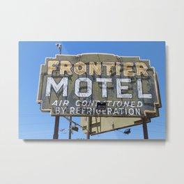 Frontier Motel Metal Print