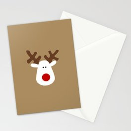 Christmas Reindeer-Brown Stationery Cards