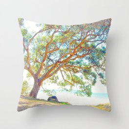 Summer time tree Throw Pillow