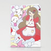 puppycat Stationery Cards featuring Bee & puppycat ver 1 by Kurodoj
