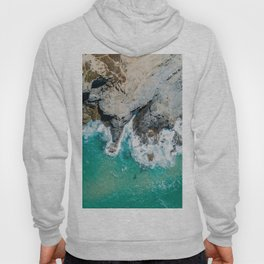 Ocean Waves Crushing, Drone Photography, Aerial Landscape Photo, Large Printable Photography, Ocean Hoody