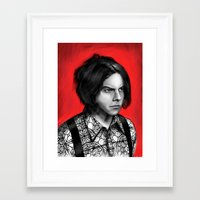 jack white Framed Art Prints featuring Jack White by Dr.Söd