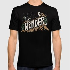 Wo/aNDER Black Mens Fitted Tee MEDIUM