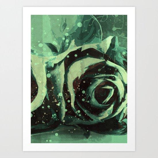 Turquoise Roses 2 Art Print