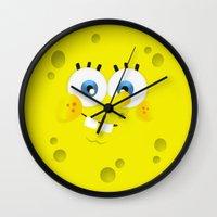 spongebob Wall Clocks featuring SpongeBob by solostudio