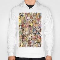 cartoon Hoodies featuring Cartoon Collage by Myles Hunt