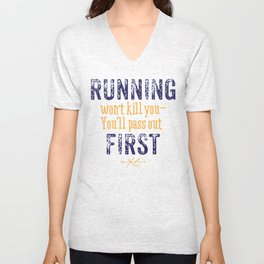Purple & Gold Running Won't Kill You (Cross Country) Unisex V-Neck