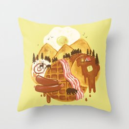 Breakfastscape Throw Pillow