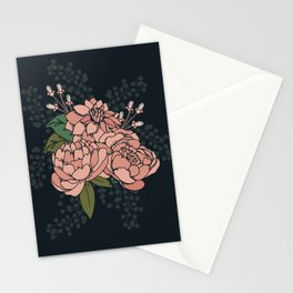 Moody Florals - Coral Stationery Cards