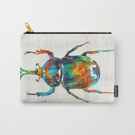 Colorful Beetle Art - Scarab Beauty - By Sharon Cummings Carry-All Pouch