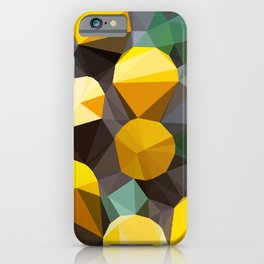 lemonade abstract geometrical art iPhone Case