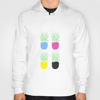 pineapples Hoodies featuring Pineapples by adovemore