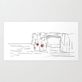 """#mymalta """"Two faces of Dwejra"""" Art Print"""