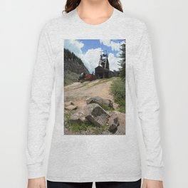 Climbing Up to the Longfellow Mine at 11,080 Feet Long Sleeve T-shirt