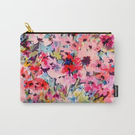 Little Peachy Poppies Carry-All Pouch