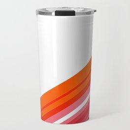 Tangerine Abstract Travel Mug