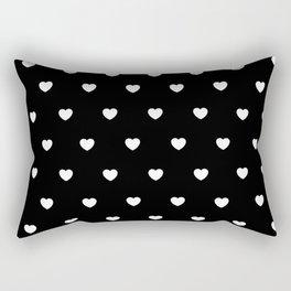 HEARTS ((white on black)) Rectangular Pillow