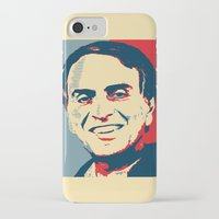sagan iPhone & iPod Cases featuring Carl Sagan 'Hope' by cvrcak