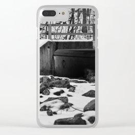 Heart left under the bridge Clear iPhone Case