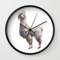 lama Wall Clocks featuring Best Lama by SansArt